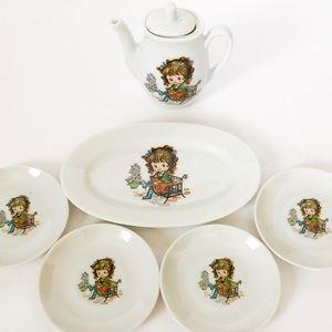 Vintage little girl china tea set - made in Japan